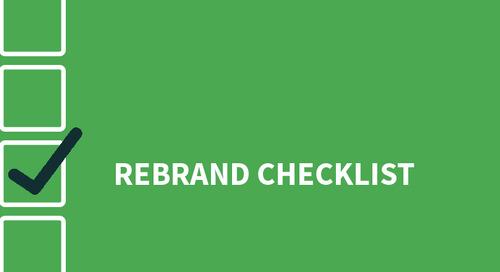 A Marketer's Checklist for a Successful Rebrand