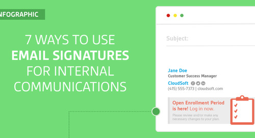 7 Ways to Use Email Signatures for Internal Communications [Infographic]