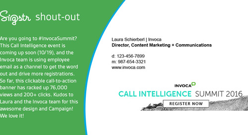 [Sigstr Shout-Out] Hey Invoca! We're Looking at You!