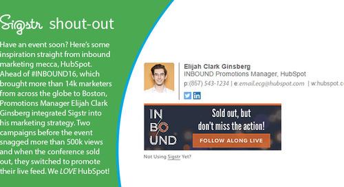 [Sigstr Shout-Out] HubSpot Custom Email Signature Generates +530K Sigstr Views