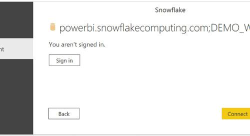 Using SSO Between Power BI and Snowflake