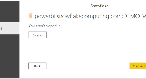 Using SSO Between Power BI and Snowflake