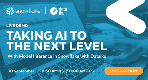 Data Science Demo – Taking AI to the Next Level with Model Inference in Snowflake with Dataiku – EMEA – 30-09-2021