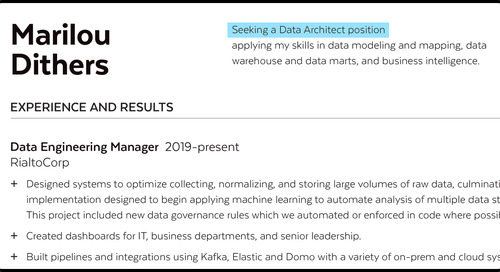 The Annotated Data Architect Resume