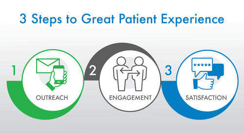 The 3 Main Steps to Great Patient Experience: Outreach, Engagement, and Satisfaction