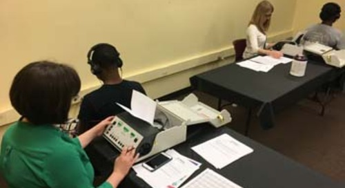Swedish audiologists provide free hearing screenings for teens at special event