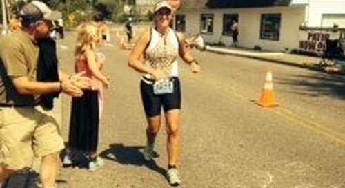 Just Keep Moving: Carolyn Phelps completes Ironman 70.3 in Lake Stevens