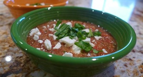 No-Cook Meals for Multiple Sclerosis Week 2: Gazpacho