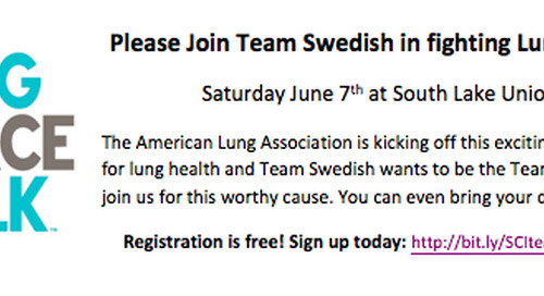 Join Swedish Cancer Institute at Seattle's Lung Force Walk on June 7