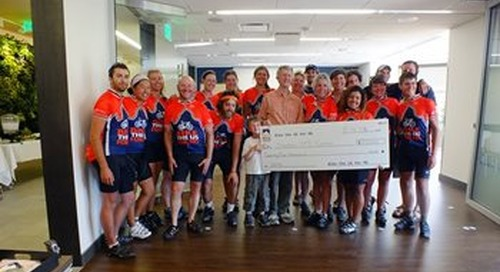 Bike the US for MS riders donate $25,000 to the Swedish Multiple Sclerosis Center