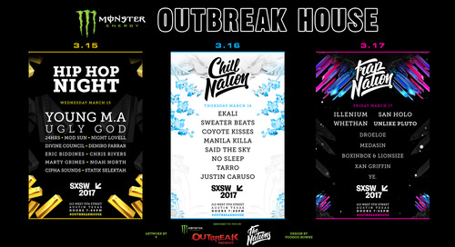 The Monster Energy Outbreak House Returns to SXSW with a Exciting Music Lineup and Game-Changing New Partnership