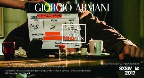 """Giorgio Armani Presents """"Films of City Frames"""" at SXSW 2017"""