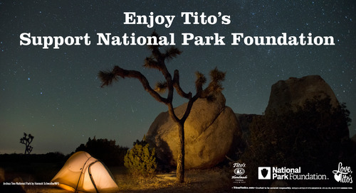 Enjoy Tito's and support the National Park Foundation