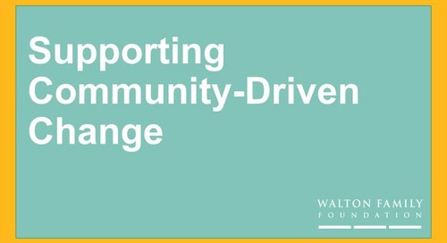 Supporting Community – Driven Change at WFF