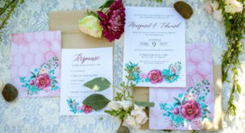 How To Incorporate Your Color Palette Into Your Wedding Stationery