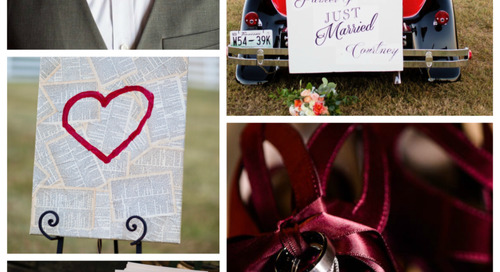 Valentine's Day Wedding Color Board | Say YES To Love