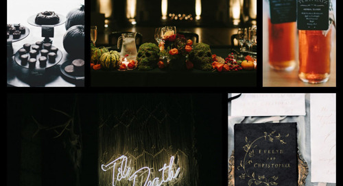 Haute Halloween Wedding Color Board