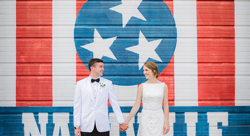 Fun Colorful Military Wedding in Nashville | Stephanie & Geoffrey