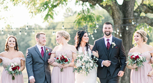 Romantic Blush & Burgundy Wedding | Nikki & Jordan