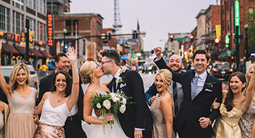 Greenery-Filled Gold Wedding in Downtown Nashville | Jessica & Jeremy