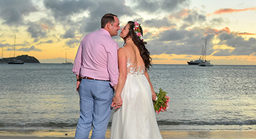 Pink & Blue Destination Wedding in St. Lucia | Shaina & Lee