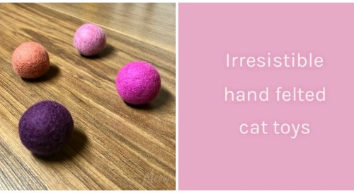 WIN these Hand Felted Cat Ball Toys