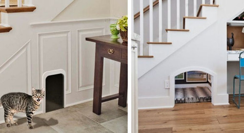 Turn the Empty Space Under Your Stairs into a Kitty Playhouse