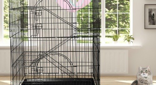 WIN this Indoor/Outdoor Wire Cat Cage from Petsmatig