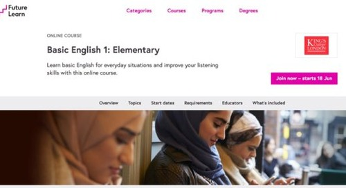 Free online courses on English for Syrian refugees