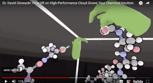 Using virtual reality to study interactive molecular dynamics