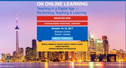 What I learned from the ICDE World Conference on Online Learning