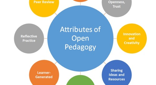 2018 review of online learning: open pedagogy