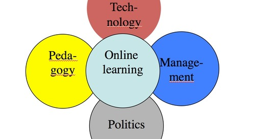 2018 review of online learning: weak leadership