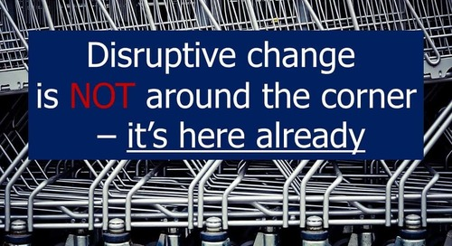Keep up, or fall behind – The challenge of disruptive change