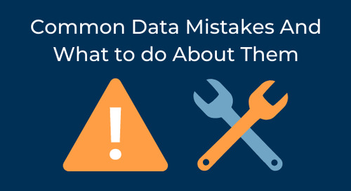 Common Data Mistakes - And What to do About Them
