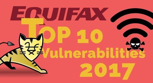 Top 10 Security Vulnerabilities of 2017