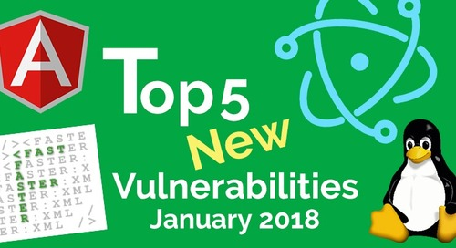Top 5 New Open Source Vulnerabilities of January 2018
