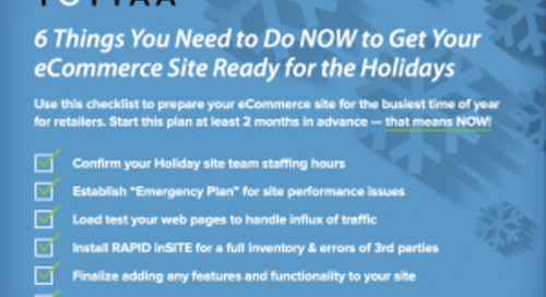 eCommerce Holiday Checklist: 6 Things You Need To Do NOW To Get Your eCommerce Site Ready For The Holidays