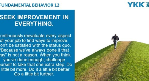 2020-03-23 Issue 139 – Fundamental Behavior 12 – Seek improvement in everything
