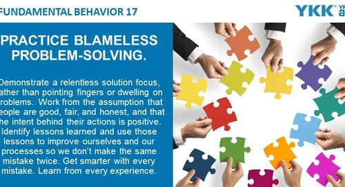 2020-04-27 Issue 144 – Fundamental Behavior 17 – Practice blameless problem-solving