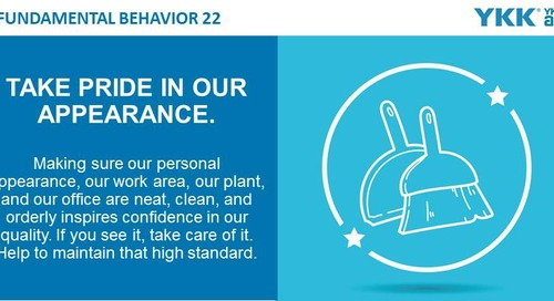 2020-06-01 Issue 149 - Fundamental Behavior 22 - Take pride in our appearance