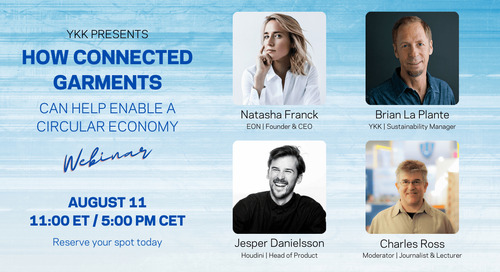 Webinar: How connected garments can help enable a circular economy – August 11 at 11:00 AM ET