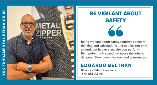 2021-07-05 Issue 204 - Fundamental Behavior 2 - Be Vigilant About Safety